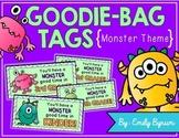 Meet the Teacher Night Goodie Bag Tags! (Monster Themed!)
