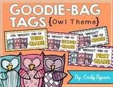 Meet the Teacher Night Goodie Bag Tags! (Owl Themed!)