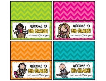 Meet the Teacher Night Goodie Bag Tags! (Rock Star Themed!)
