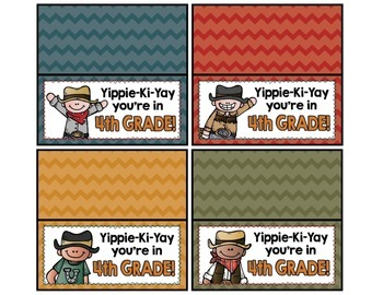 Meet the Teacher Night Goodie Bag Tags! (Western Themed!)