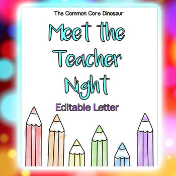 Meet the Teacher Night Letter