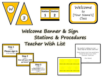 Meet the Teacher Night Pack - Charlie Brown Tribute Colors {Editable}