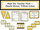 Meet the Teacher Night Pack - Charlie Brown Tribute Colors {Editable}
