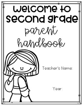 Back to School Parent Handbook {EDITABLE}