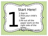 Meet the Teacher Night Parent Directions Editable
