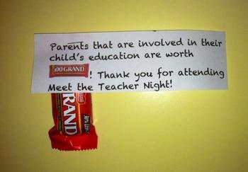 Meet the Teacher Night- Parent Gift