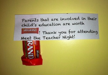 Meet the Teacher Night- Parent Gift