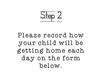 Meet the Teacher Night (Parent Instructions)
