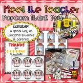 Meet the Teacher Popcorn Thank You