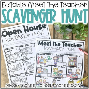 Meet the Teacher Night Scavenger Hunt {Editable}