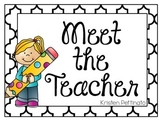 Meet the Teacher Night Signs