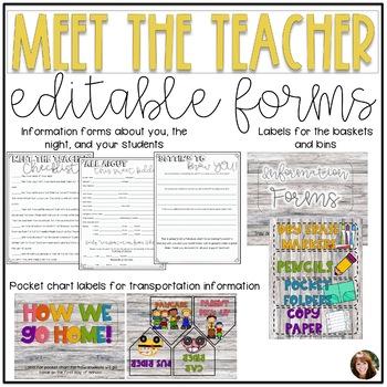 Meet the Teacher Night {Editable Grey Shiplap}