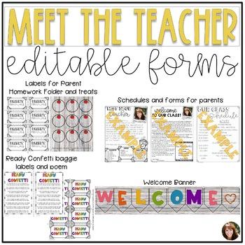 Meet the Teacher Editable Templates - Grey Shiplap
