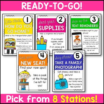 Meet the Teacher Night Stations