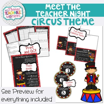 Meet the Teacher Night Stations - Circus Theme