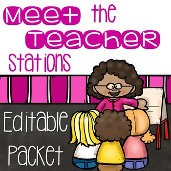 Meet the Teacher Night Stations-EDITABLE