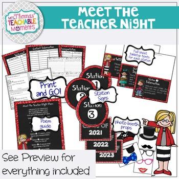 Meet the Teacher Night Stations - Kids Theme