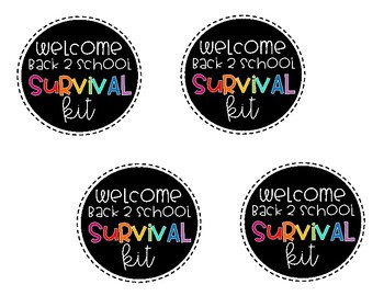Meet the Teacher Night Survival Kit for Students FREEBIE