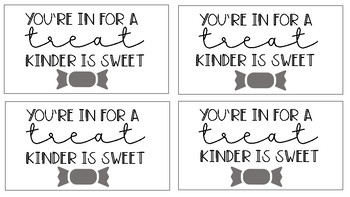 "Meet the Teacher Night ""Treat"" Cards"