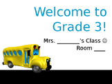 Meet the Teacher Night Welcome to Grade 3 Curriculum Slide