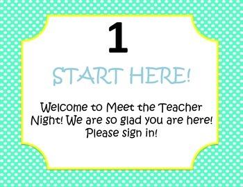 Meet the Teacher Night polka dot packet