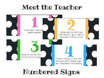 Meet the Teacher Numbered Signs
