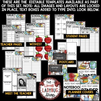 Meet the Teacher Bundle for Open House Night & Back to School Forms