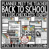 Meet The Teacher Template Editable, Open House Forms, Back to School Forms