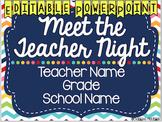 Meet the Teacher, Open House, Back to School EDITABLE PowerPoint