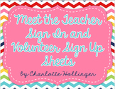 Meet the Teacher, Open House, Back to School EDITABLE Sheets