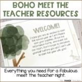 Meet the Teacher | Open House | Back to School Night: Boho