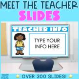 Meet the Teacher Open House Back to School Night Editable Slides