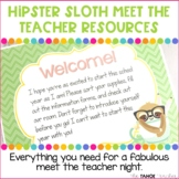 Meet the Teacher | Open House | Back to School Night: Hipster Sloth
