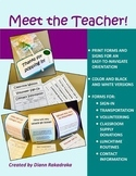 Meet the Teacher: Editable Open House Forms and Signs