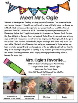 Meet the Teacher/ Open House Packet