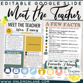 Meet the Teacher Open House Parent form Editable Template Google Back to School
