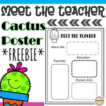 Meet the Teacher Open House Poster {Cactus Theme}
