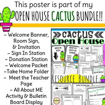 Meet the Teacher Open House Poster {Cactus FREEBIE}