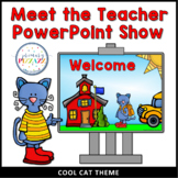 Meet the Teacher - Open House PowerPoint - COOL CAT Theme