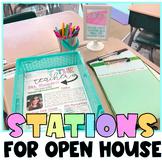 Meet the Teacher Open House Station Signs Editable