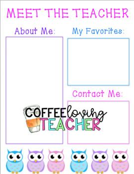 Meet the Teacher Owl Theme