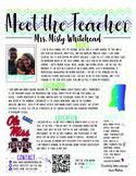 Meet the Teacher PDF Template