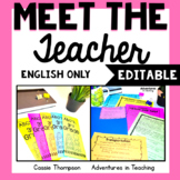 Meet the Teacher Editable Forms and Handouts for Back to S
