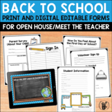 Meet the Teacher and Open House Editable Printables and Po