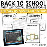 Meet the Teacher and Open House Editable Printables and Po