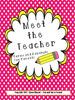 Meet the Teacher Pack {Editable}