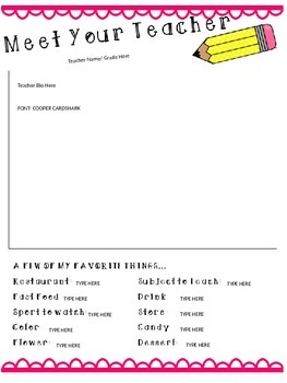 Meet the Teacher Pack {Editable}
