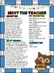 Meet the Teacher Packet - Owl Theme