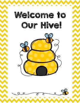 Meet the Teacher/Parent Forms: BEE Theme