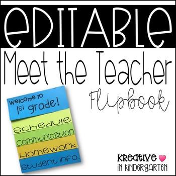 Meet the Teacher/Parent Night Flipbook